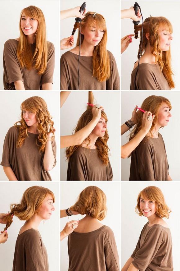 Как сделать прическу из длинных волос каре