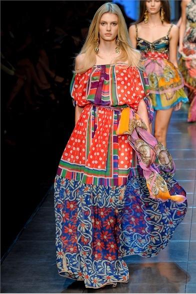 Весна лето 2012 модные платья