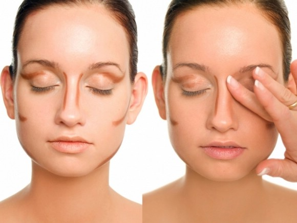 Как сделать уже нос при помощи косметики