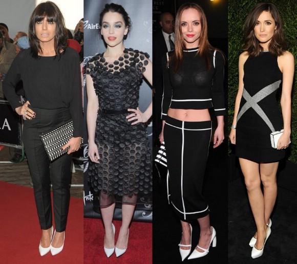 Обувь к черно белому платью