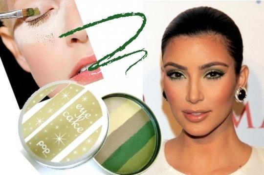Зеленый дымчатый макияж