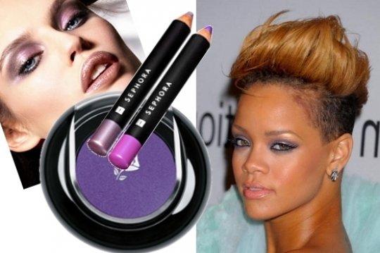 Фиолетовый дымчатый макияж