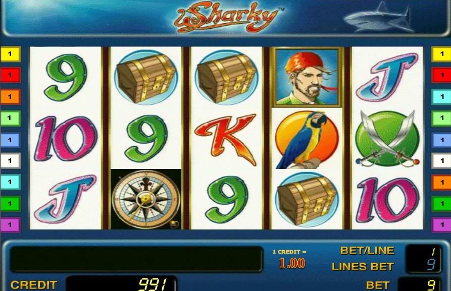 Игровой автомат Sharky перенесет в мир пиратов и морских путешествий